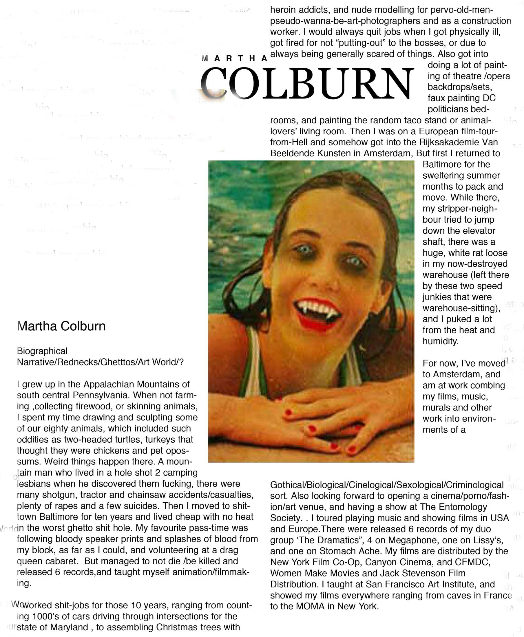 Martha Colburn – Press